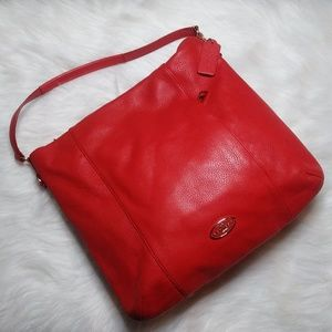 Coach Isabelle Leather Hobo Shoulder Bag